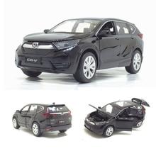 1/32 Honda CR V Diecasts 장난감 자동차 사운드 라이트와 자동차 모델 어린이를위한 다시 자동차 장난감을 당겨 생일 선물 컬렉션