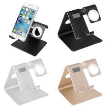 Multi-function Aluminum Stand Charging Dock Cradle For Apple Watch iphone ipad Android Phone(China)