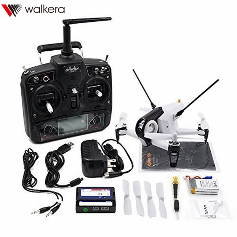Original Walkera Rodeo F150 F3 5.8G 6-Axis FPV Racing Drone with DEVO-7 Mode2 Transmitter 600TVL Camera RTF New Arrival original walkera devo f12e fpv 12ch rc transimitter 5 8g 32ch telemetry with lcd screen for walkera tali h500 muticopter drone