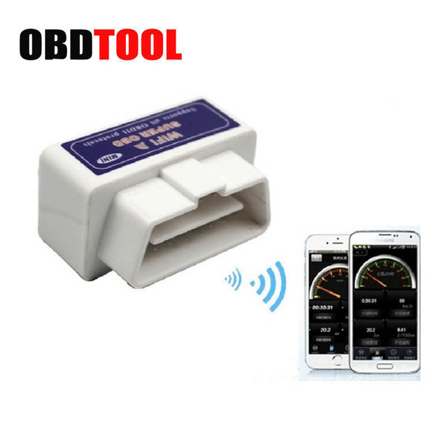 PIC18F25K80 Chip White OBD2 ELM327 V1.5 WIFI 16Pin Adapter Scanner for iOS/Android Car Diagnostic Tool OBD 2 ODB II ELM 327 WIFI
