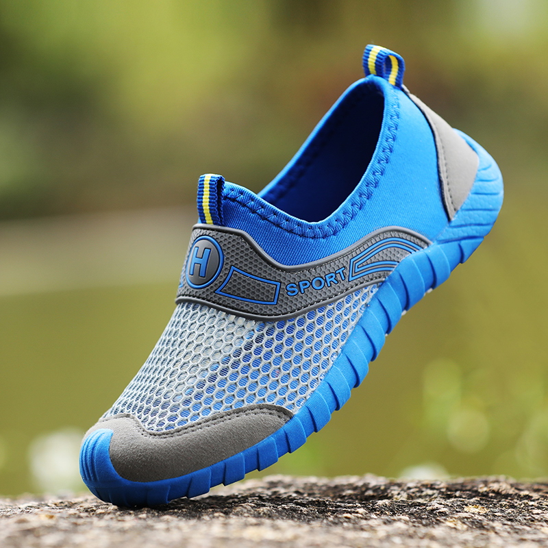 Boys Mesh Breathable Flying Woven Shoes Hollow Mesh Single Net Shoes In The Big Children Students Children Shoes Men