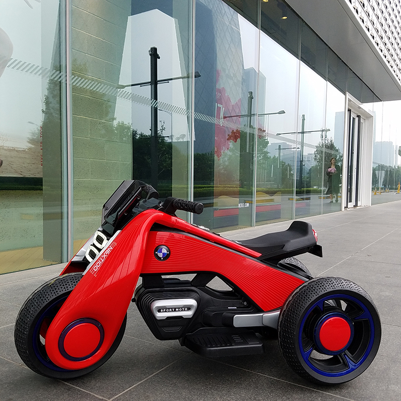 Childrens Electric Motorcycle dual-drive Tricycle 1-7 Charging Toy Car can ride on ...