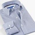 Смарт пять мужская Одежда Плед Хлопковые Рубашки Slim Fit мужская Рубашка Повседневный Длинным Рукавом Большой Размер 5XL 6XL рубашки Мужчины