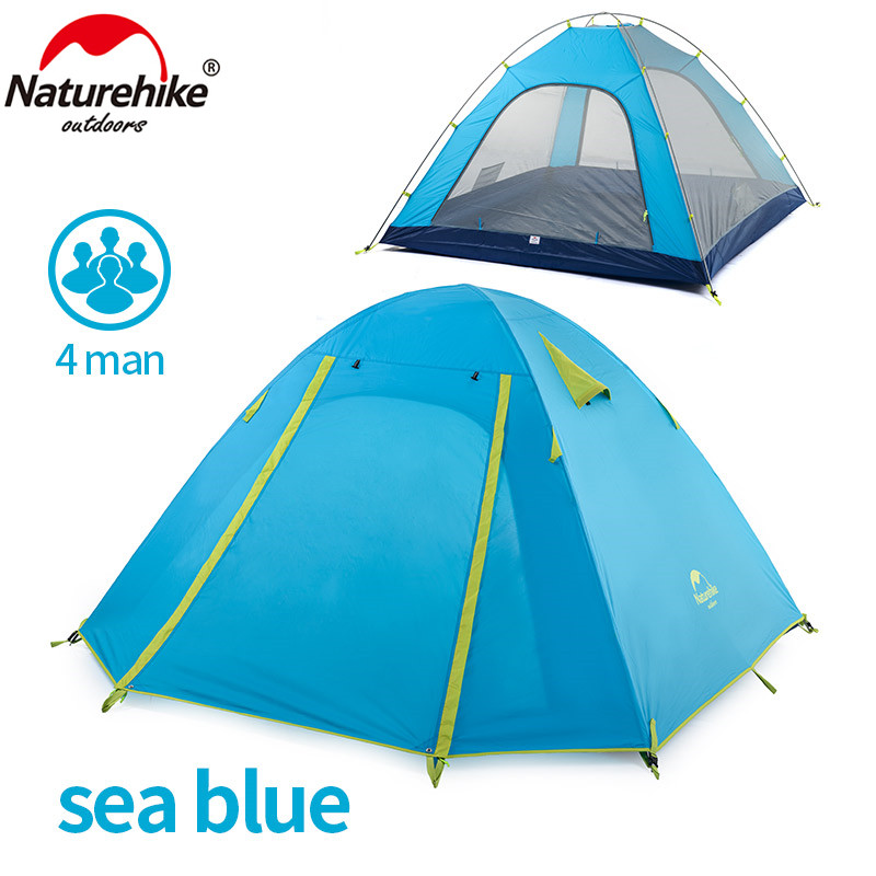 NatureHike P Series Classics Tent 210T Fabric For 4 Person NH15Z003 P-in Tents from Sports u0026 Entertainment on Aliexpress.com | Alibaba Group  sc 1 st  AliExpress.com & NatureHike P Series Classics Tent 210T Fabric For 4 Person ...