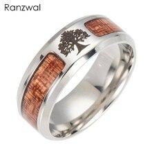 Ranzwal Stainless Steel Rings for Men/Women Carbide Tree Cross Freemasons Ring Wedding Jewelry US SIZE 6~13 ARI224