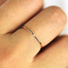 Micro-inserts Cubic Thin Finger Ring SF