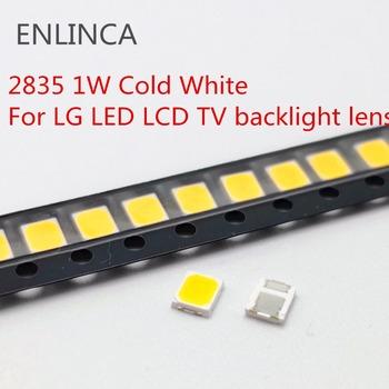 100-200 sztuk oryginalne do LG LCD LED TV podświetlenie obiektywu koraliki 1W 3v 3528 2835 koraliki do lampy zimnej fajne białe światło tanie i dobre opinie ENLINCA Nowy Do montażu powierzchniowego 2835 high light for LG LED