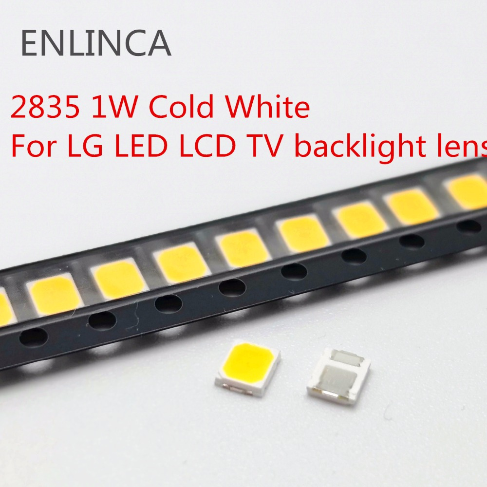 100-200pcs Original For LG <font><b>LED</b></font> LCD TV backlight lens beads <font><b>1W</b></font> <font><b>3v</b></font> 3528 <font><b>2835</b></font> lamp beads cold cool white light image