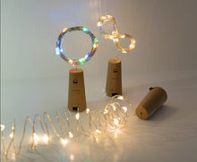 2M LED Wine Bottle Stopper Garland Copper Wire LED String Light Cork Shaped Wine Stopper Christmas Party Wedding Decor Lamps(China)