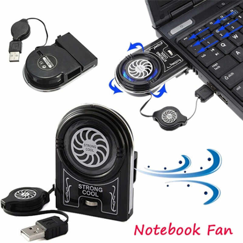 Mini Vacuum Strong Cool Air Extract Usb Notebook Laptop Cooling Cooler Fan Pad