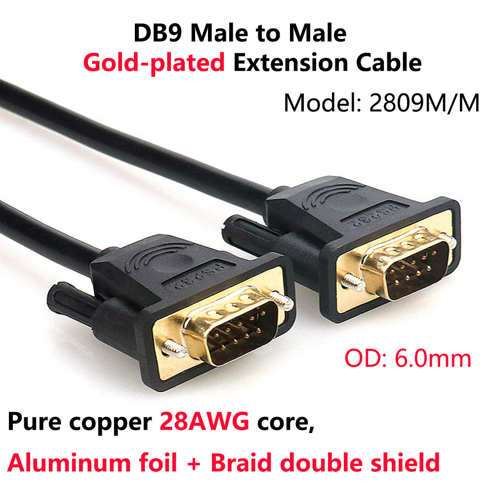 RS232 DB9 9 Pin Serial Female to Female Port Extension Converter PC Cable  BS