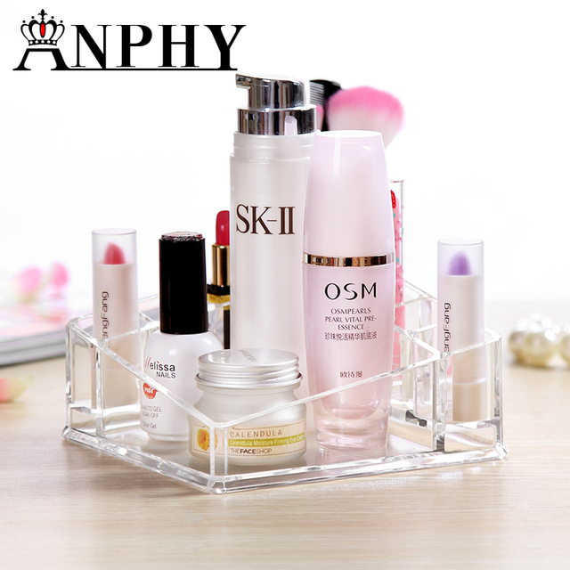 Marvelous Lipstick Storage Box Transparent Cosmetic Makeup Organizer Acylic Lipstick  Holder Display Stand Home Storage Container C22