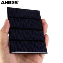 ANBES 12V 1.5W Solar Panel Standard Epoxy Polycrystalline Silicon DIY Battery Power Charge Module 115x85mm Mini Solar Cell