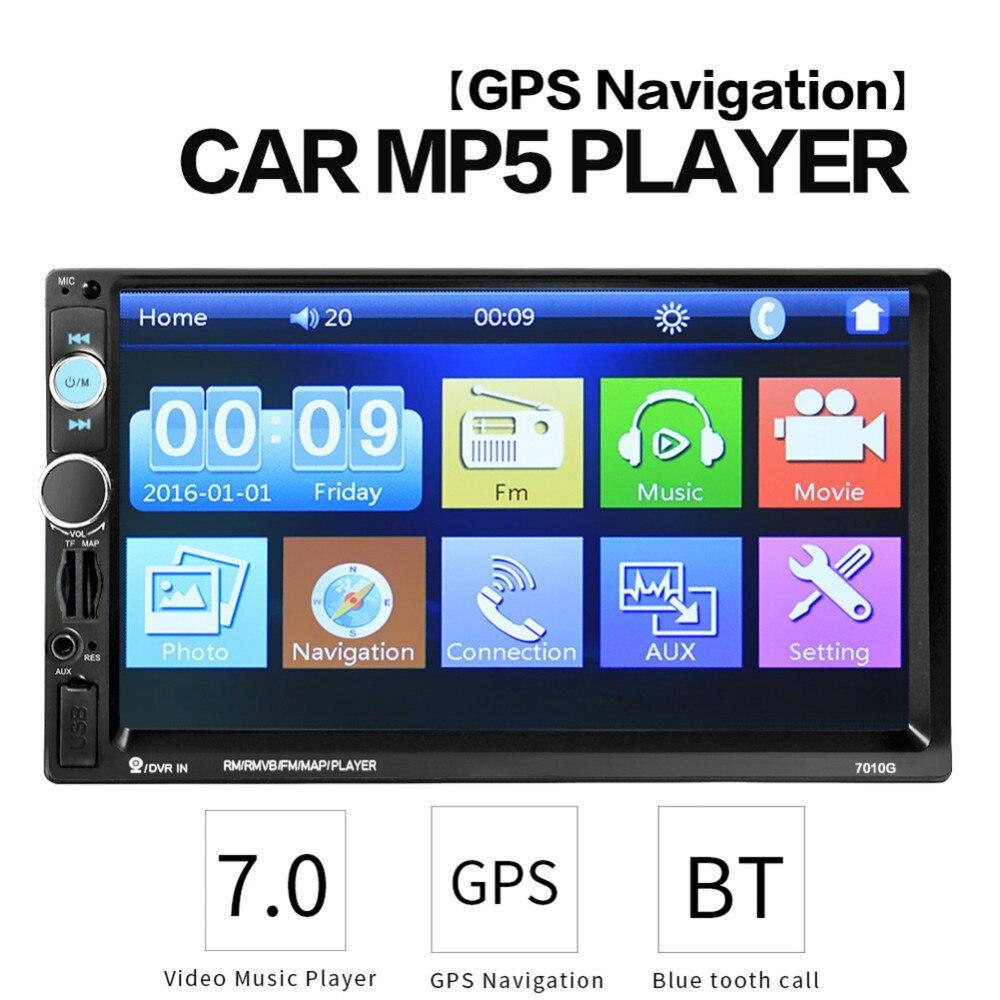 2 Din 7 pouces HD Autoradio GPS Navigation lecteur caméra Autoradio Bluetooth AUX MP3 MP5 stéréo FM Audio USB Auto électronique