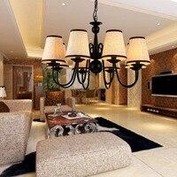 Siyah metal avize aydınlatma yemek odası asılı lamba tasarımcı lamba armatür suspendu lamparas de techo e pendentes cilalar