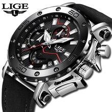 Наручные часы lige Элитный бренд Для мужчин аналоговый кожаные спортивные часы Для Мужчин Армия армейские часы Мужские Дата кварцевые наручные часы Masculino