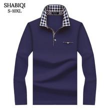 SHABIQI Classic Merk mannen shirt Mannen Poloshirt Lange mouwen Polo Shirts T Designer Polo Shirt Plus Size 6XL 7XL 8XL 9XL 10X