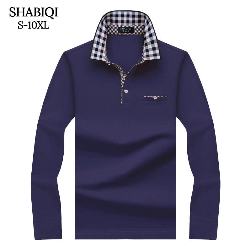 SHABIQI Klasična moška majica Moška majica polo majica z dolgimi - Moška oblačila