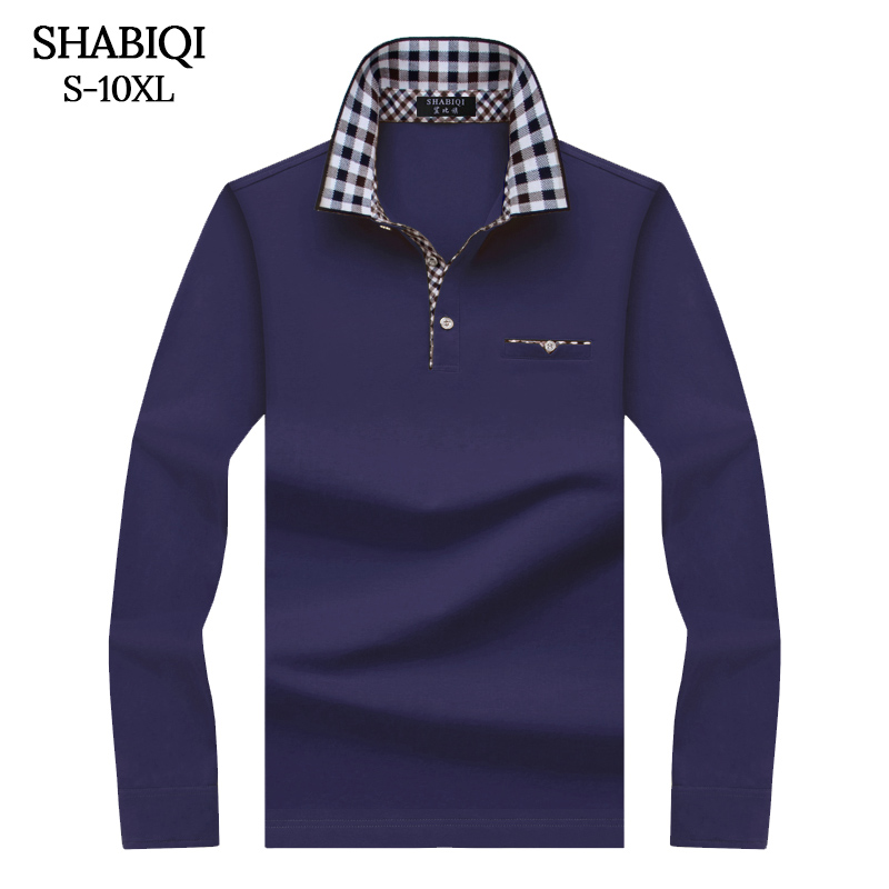 SHABIQI Classic Brand Men shirt Men   Polo   Shirt Men Long Sleeve   Polos   Shirt T Designer   Polo   Shirt Plus Size 6XL 7XL 8XL 9XL 10XL