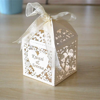 Buy Wedding Gift Box : ... personalized wedding favors and gifts box, laser cut wedding sweet box