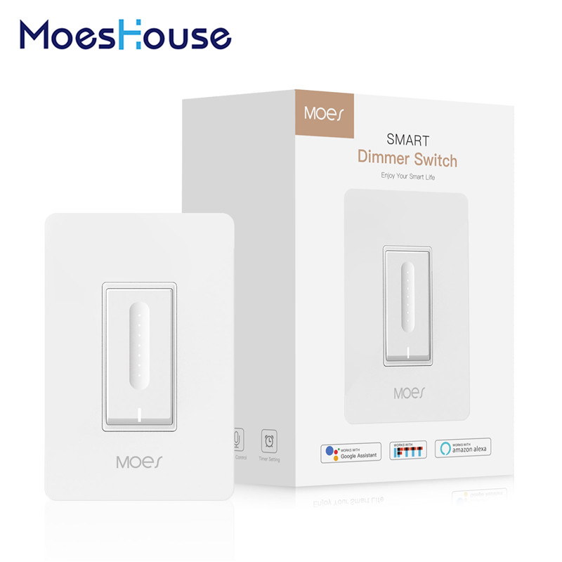 WiFi Smart Light Dimmer Switch Elegantly Designed Smart Life APP Works With Alexa Google Home For Voice Control No Hub Required