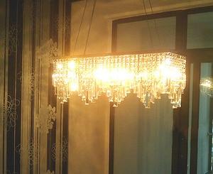 Image 5 - Modern Chinese simple fashion creative rectangular K9 crystal LED chandelier bar restaurant lighting Ceiling Lamp LED Fixture