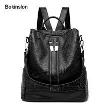 Bokinslon backapacks женский из искусственной кожи модные женские туфли рюкзак Сумки одноцветное Цвет Повседневное путешествия рюкзак дамы
