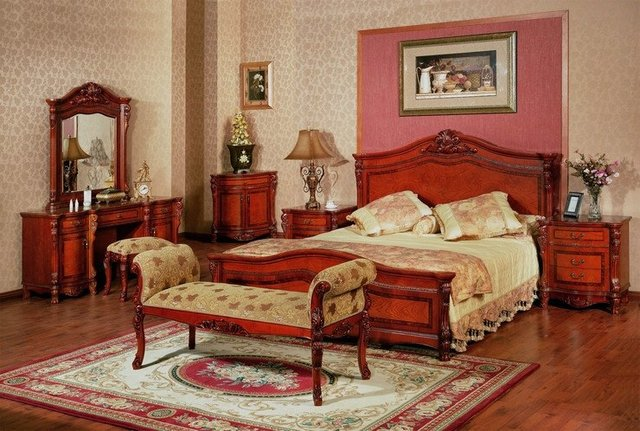 Solid wood bed Bed Suite furniture European furniture Double New Classical American Furniture