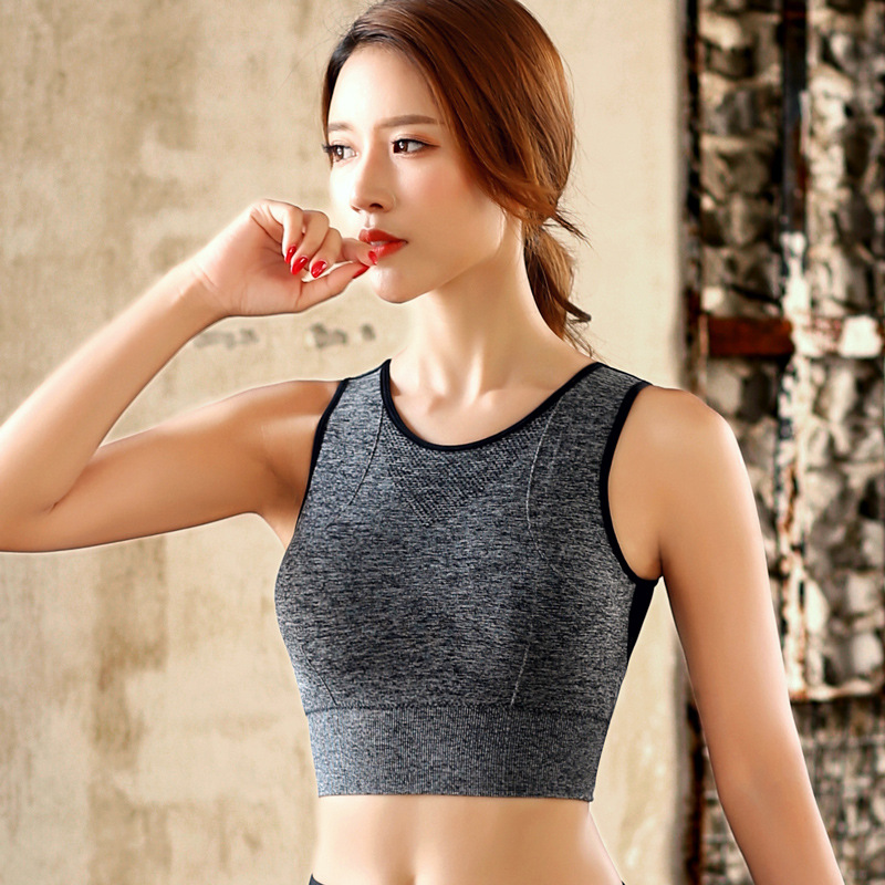 Sports Bra Women Mesh Fitness Top Bra Shakeproof Padded Yoga Bra