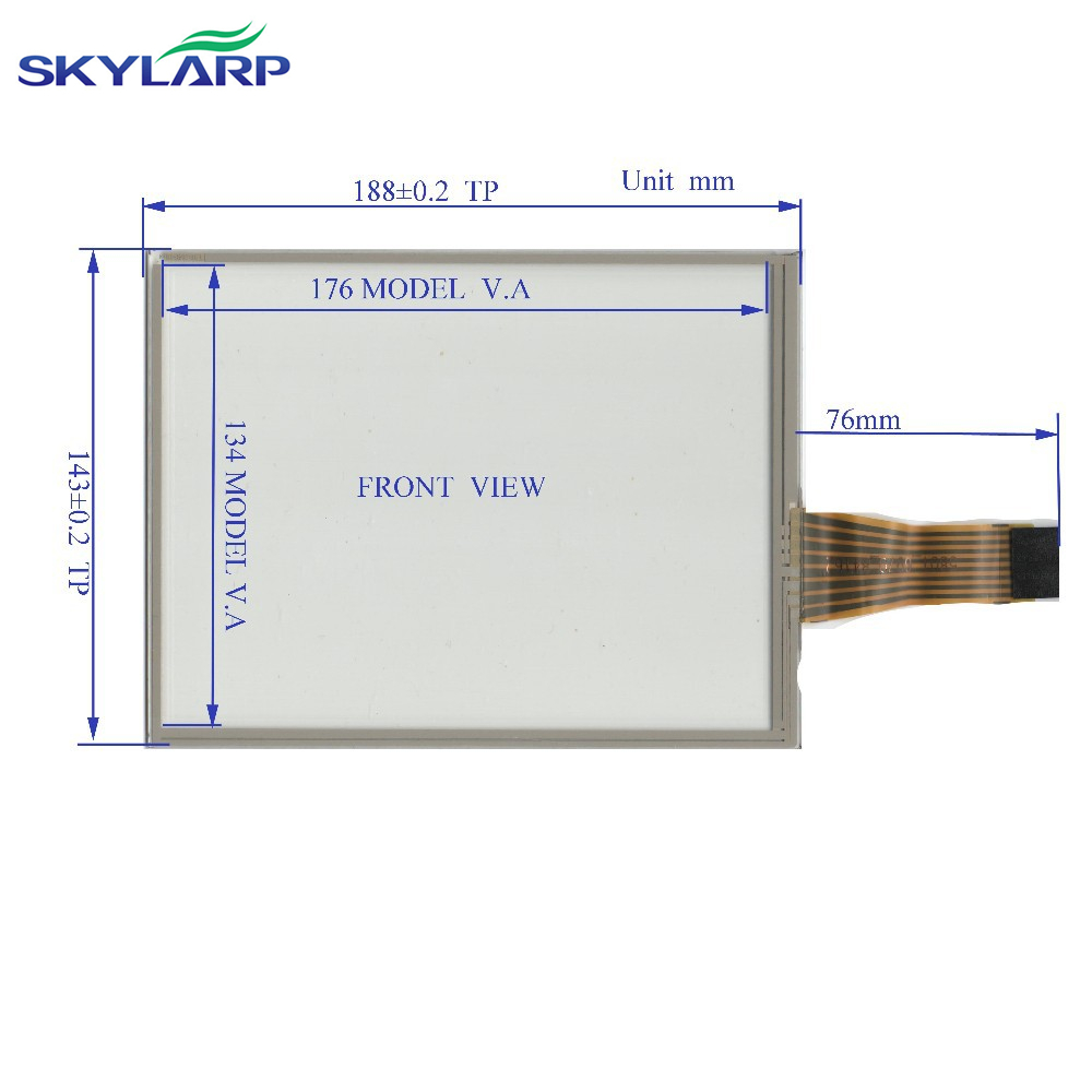 NEW 8.4 Inch TouchScreen 8line 188*143 188mm*143mm for industry applications GLASS on display TR8-084F-16 Touch panel Glass