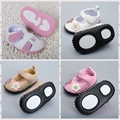 Bebés meninas Calçados Primeiro Walkers Do Bebê meia-sola de borracha Prewalker Sapatos da criança recém-nascidos sapatos ao ar livre R7233
