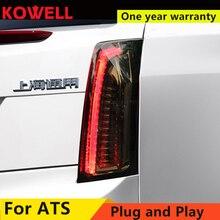 Автомобильный Стайлинг для Cadillac ATS задние фонари- для Cadillac ATS светодиодный DRL+ Динамический сигнал поворота+ светодиодный тормозной сигнал