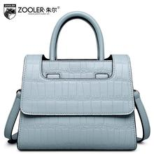 2016 New zooler women bag genuine leather designers brand fashion quality alligator grain women leather handbags shoulder bag