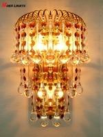 Crystal Wall Light Golden crystal Sconce Light K9 Top crystal bedroom living room light sconce crystal Lamp