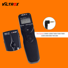 Viltrox jy-710-c1 беспроводной жк-интервальный таймер кабель дистанционного спуска затвора для canon 60d 70d 80d 750d 700d 650d 1200d 1300d DSLR