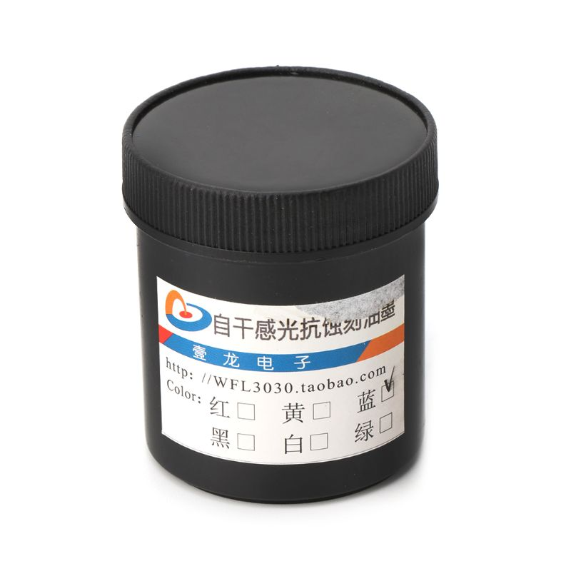 100g  Photoresist Anti-etching Blue Ink Paint For DIY PCB Dry Film Replacement