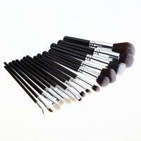 15 adet Makyaj Fırçalar Pro Yumuşak Saç Kozmetik Fırça Kaş vakıf Gölgeler Eyeliner Dudak Kabuki Makyaj Araçları Kitleri Sıcak satış