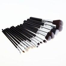 15pcs Makeup Brushes Set Pro Soft Hair Cosmetic Brush Eyebrow Foundation Shadows Eyeliner Lip Kabuki Make Up Tools Kits Hot Sale