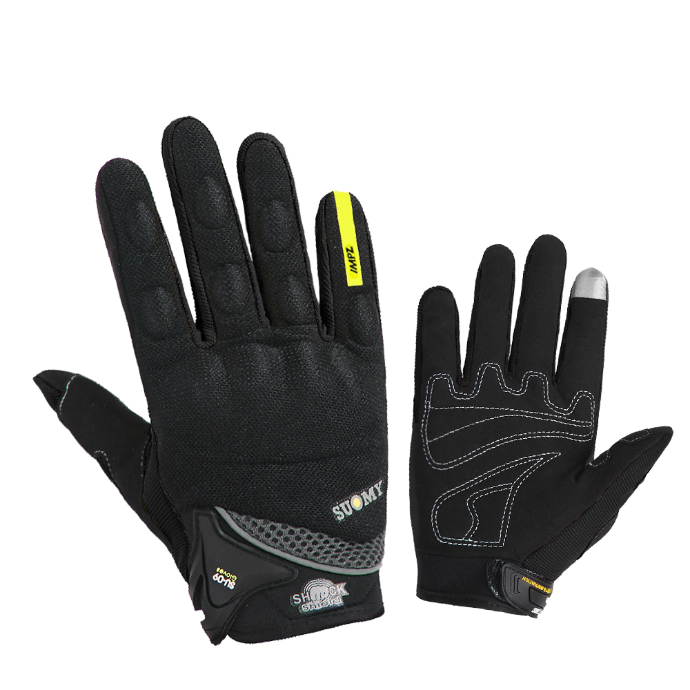 Icon Konflict Motorbike Motorcycle Leather Gloves Black