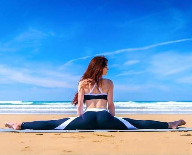 Leggings deportivos negros y blancos de retales para mujer Leggings de ocio de cintura alta pantalones de entrenamiento Javascript:; Leggings para mujer 3045
