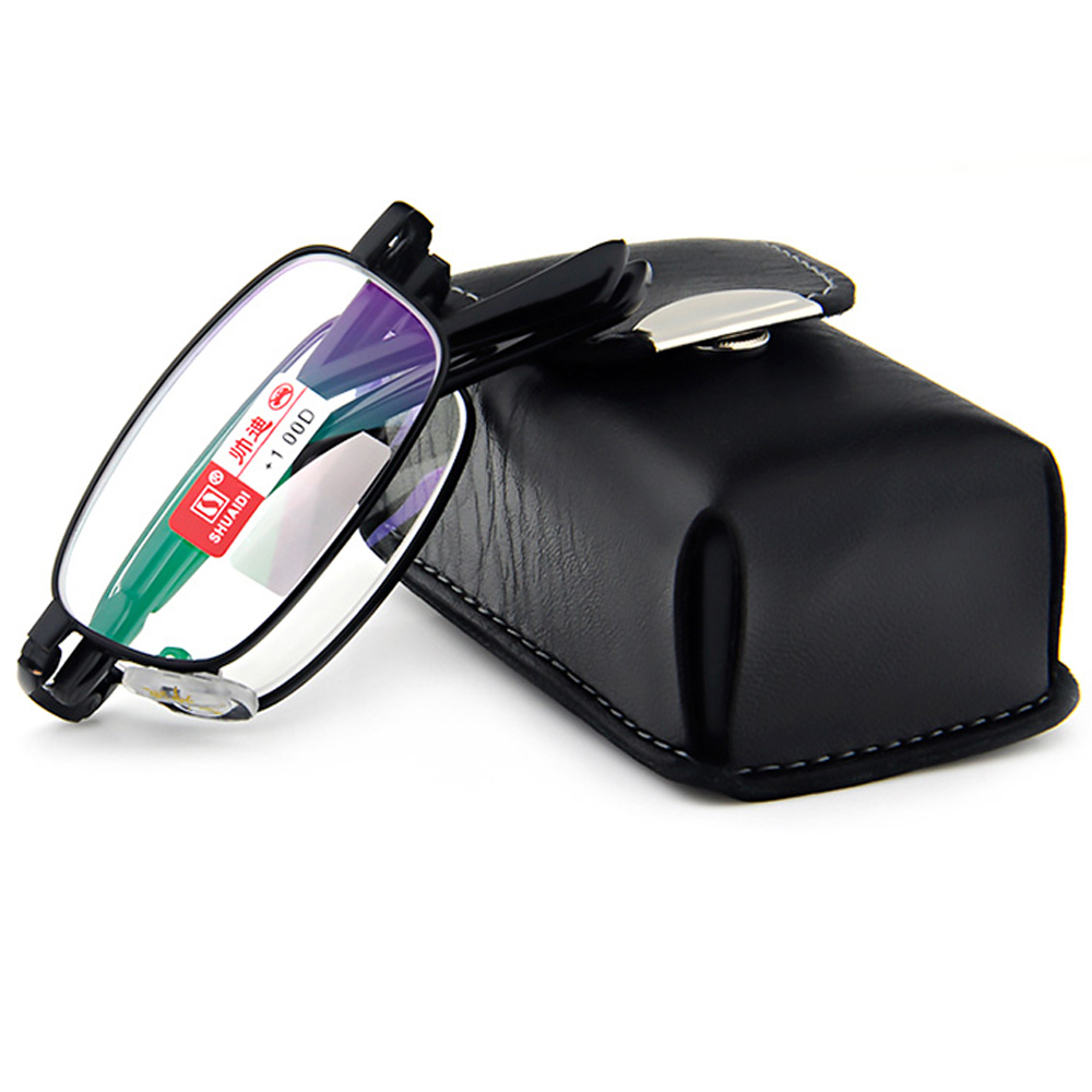 Lipat gelas presbyopic kacamata kualitas Tinggi ultra ringan dengan SABUK  Portabel kasus + 1.0 + 1.5 + 2.0 + 2.5 + 3.0 + 3.5 + 4.0 c09261cf2a