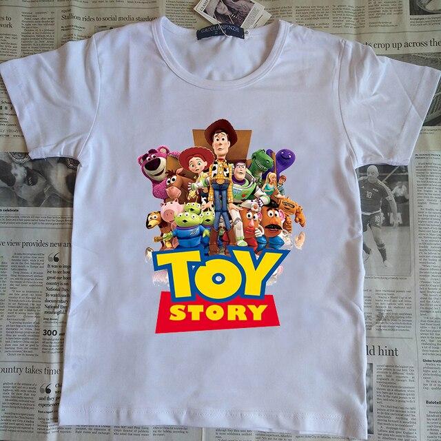 11f17498714547 3-12 years child anime T Shirt 3D Woody Buzz Lightyear Toy Story T-Shirt  Cartoon Printed Tee Shirts 3D t shirt for boys/ girls