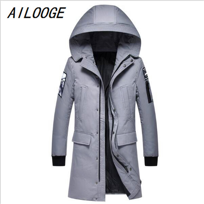 AILOOGE Winter Jacket Men Casual Cotton Thick Warm Coat Men's Outwear Parka Plus Coats Windbreak Snow Military Jackets Multiple hot sale winter jacket men fashion cotton coat warm parka homme men s causal outwear hoodies clothing mens jackets and coats