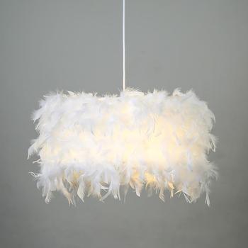 Подвесные светильники E27 перо Романтический подвесной светильник для спальни гостиной освещение HangLamp гусиное перо подвесной светильник