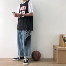 2754824edeb 2019 Summer Basketball Jerseys T-shirt Lakers Print Hip Hop Streetwear  Loose Men T Shirt