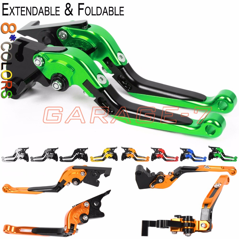 For Kawasaki ZX9R ER-5 KLE500 Zephyr 750 ZZR1100 Z750 ZZR250 ZXR400L Motorcycle CNC Foldable Extending Lever Brake Clutch Levers new cnc billet short straight adjustable brake clutch levers for kawasaki zephyr 1100 zzr 1100 1200 zx1100 zx 11 zrx1100 1200