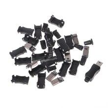 10 Наборы для ухода за кожей DIY Mini USB 2.0 5pin Электророзетка с Пластик крышка с хвостом Разъем