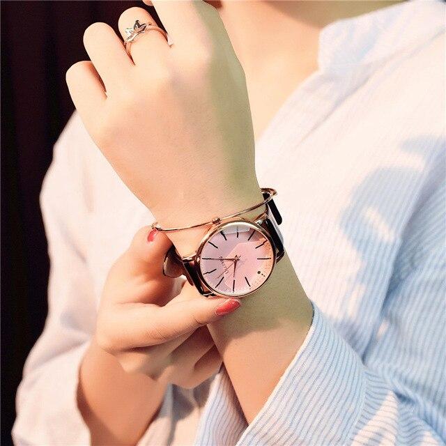 Polygonal dial design women watches luxury fashion dress quartz watch ulzzang popular brand white ladies leather wristwatch 3