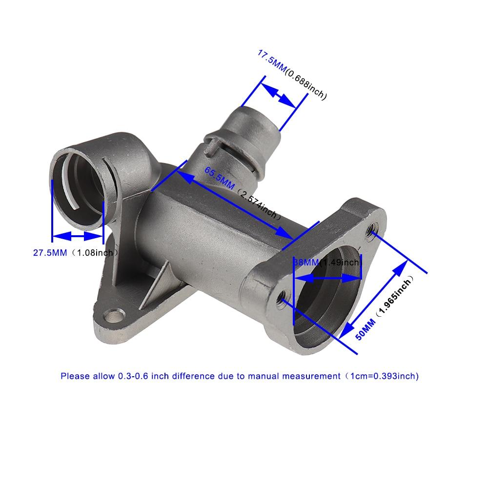 Aluminium Thermostaat Behuizing Koelvloeistof Slang Outlet Flens Connector Voor Vw Passat Audi A4 1.8T 058121132C 058121132A 058121133B