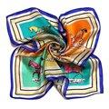 [LESIDA] 2016 NEW Fashion Small Square Silk Scarves For women Print Horse Pattern Satin Foulard Neck Warmer Bandana Blue XF1041